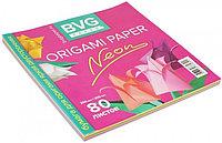 Бумага для оригами яркая двухсторонняя BVG 200*200мм 80 л