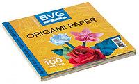 Бумага для оригами цветная двухсторонняя BVG 210*210мм 100 л