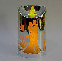 """Светодиодная свеча на батарейках, """"Парень и девушка"""", белая, фото 1"""