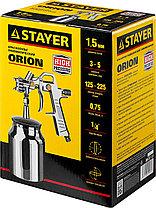"Краскопульт пневматический STAYER ""MASTER"" ORION, с нижним бачком, 1,5мм, фото 3"