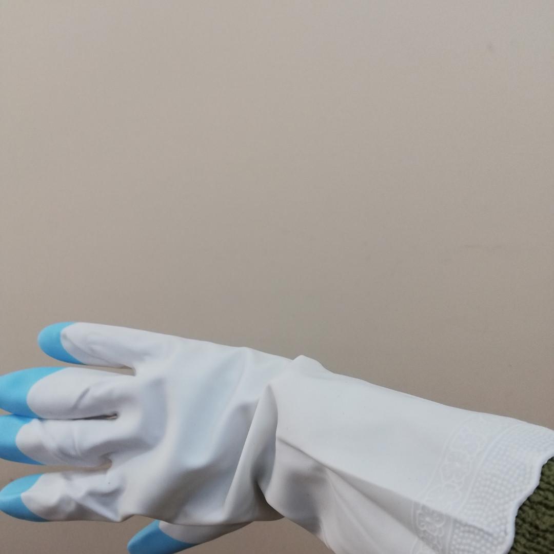 Перчатки резиновые PVC