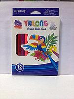 Фломастеры 12 цв. Yalong трехгранные арт.YL875130-12