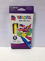 Фломастеры 6 цветов Yalong арт.YL875148-6