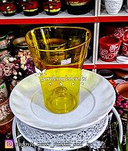 """Пластиковое Кашпо """"Волна"""". Цвет: Желтый. Объем: 1.3л"""