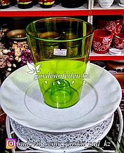"""Пластиковое Кашпо """"Лаванда"""". Цвет: Зеленый. Объем: 1.3л"""