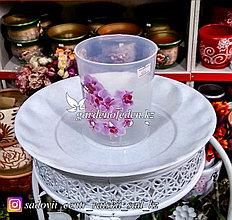 Пластиковый горшок для орхидей. Цвет: Белый. Объем: 0.7л