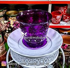 """Пластиковый горшок для орхидей """"Соблазн"""". Цвет: Фиолетовый. Объем: 1.5л"""