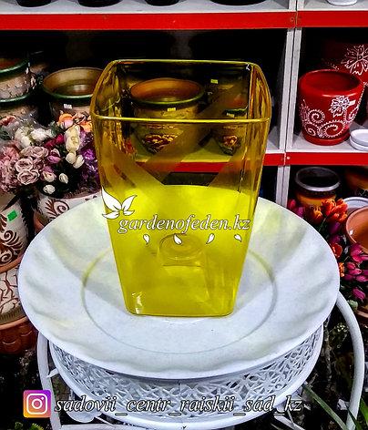 """Пластиковое кашпо """"Сильвия"""". Цвет: Желтый. Объем: 1.8л, фото 2"""