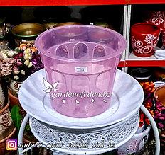 Пластиковый горшок. Цвет: Розовый. Объем: 1л