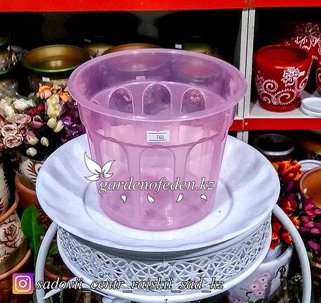 Пластиковый горшок. Цвет: Розовый. Объем: 1л, фото 2
