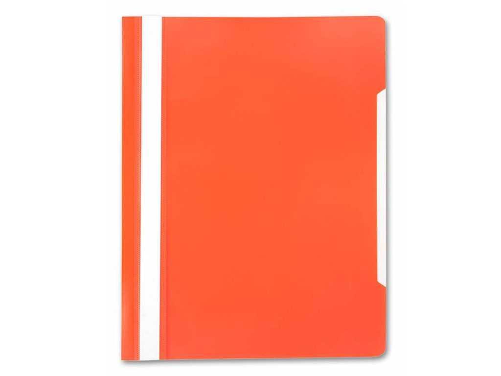 Папка-скоросшиватель БЮРОКРАТ, А4, 160/180 мкм, оранжевая