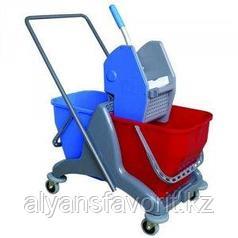 Двухведёрная тележка для уборки. 2х25 литров. Турция