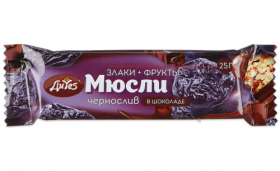 Батончик мюсли  ДиYES чернослив в шоколад