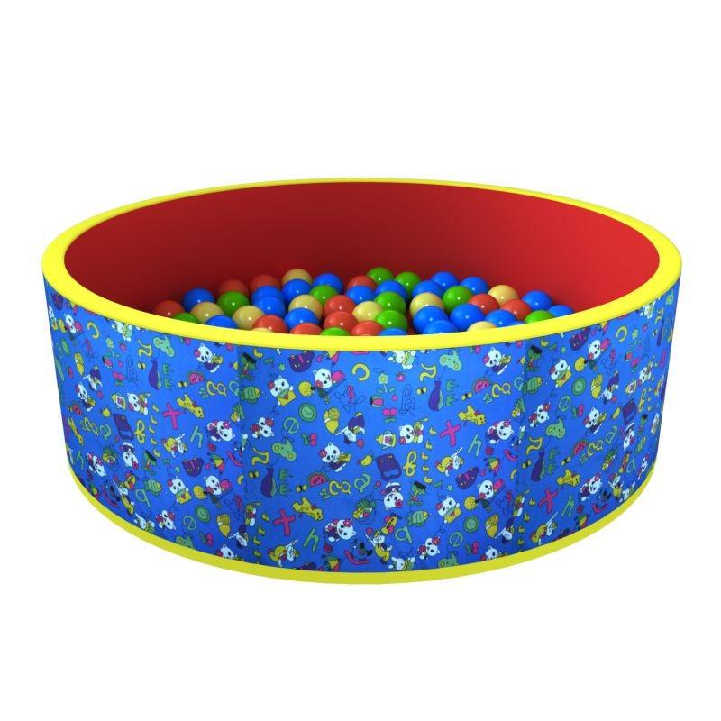 РОМАНА Сухой бассейн Романа Веселая поляна (синий/красный) 150 шаров