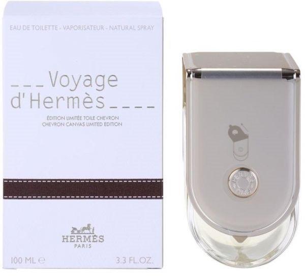 Hermes Voyage D' Hermes Chevron Canvas Limited Edition (Гермес Вояж Де Гермес) 100 ml Refillable (edt)