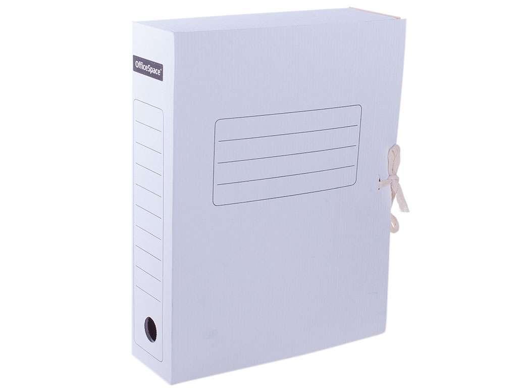Архивный короб OfficeSpace на резинках, 250x75x320 мм, микрогофрокартон, белый