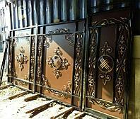 Кованные ворота в казахском национальном стиле, фото 1