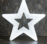"Фигура уличная ""Звезда синяя"", 56х56х4 см, пластик, 220 В, 3 метра провод, фиксинг, СИНИЙ, фото 3"