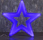 "Фигура уличная ""Звезда синяя"", 56х56х4 см, пластик, 220 В, 3 метра провод, фиксинг, СИНИЙ, фото 2"