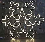 """Фигура из неона """"Снежинка"""", 67 см, 5 метров, 600 LED, 220 В, БЕЛЫЙ , фото 3"""