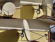 Установка и настройка спутниковой антенны 110 см. на спутники Express-AT1 @ 56° и KazSat 3 @ 58.5° .Был сделан дополнительный крепеж-фиксацию для спутниковой антенны (Ветрозащита).