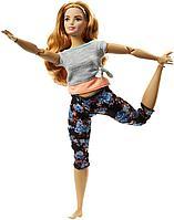 """Barbie """"Безграничные движения"""" Кукла Барби Блондинка (пышная) - Цветочные"""