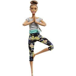 """Barbie """"Безграничные движения"""" Кукла Барби Шатенка - Цветочные"""