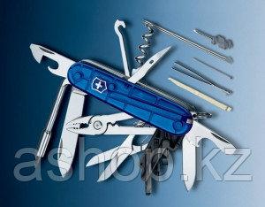 Нож складной универсальный Victorinox CyberTool 34, Кол-во функций: 35 в 1, Цвет: Синий (прозрачный), (1.7725.