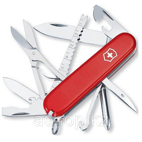 Нож складной армейский Victorinox Fisherman, Функционал: Полевой, Кол-во функций: 17 в 1, Цвет: Красный, (1.47