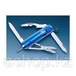 Нож складной карманный Victorinox Manager, Кол-во функций: 10 в 1, Цвет: Синий (полупрозрачный), (0.6365.T2)