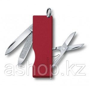 Нож складной карманный Victorinox TOMO, Кол-во функций: 5 в 1, Цвет: Красный, (0.6201.A)