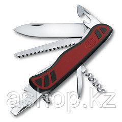 Нож складной солдатский Victorinox Forester, Кол-во функций: 11 в 1, Цвет: Чёрно-красный, (0.8361.C )