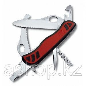 Нож складной солдатский Victorinox Dual Pro, Кол-во функций: 11 в 1, Цвет: Чёрно-красный, (0.8371.MWС)