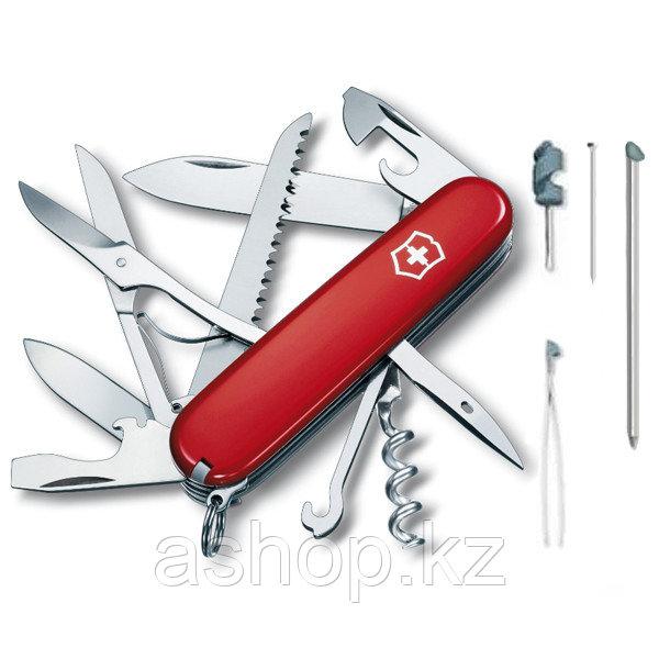 Нож складной офицерский Victorinox Huntsman, Кол-во функций: 18 в 1, Цвет: Красный, (1.3715)