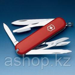 Нож складной карманный Victorinox Executive, Функционал: Туризм, Кол-во функций: 10 в 1, Цвет: Красный, (0.660
