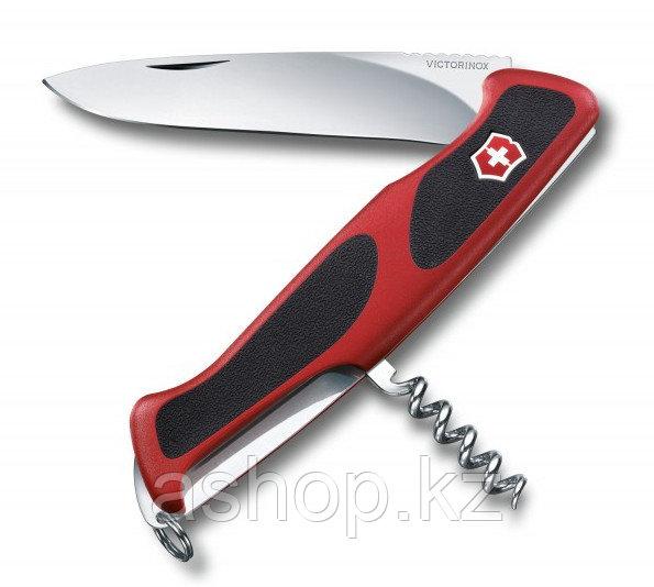 Нож складной карманный Victorinox Rangergrip, Функционал: Туризм, Кол-во функций: 5 в 1, Цвет: Красно-чёрный,