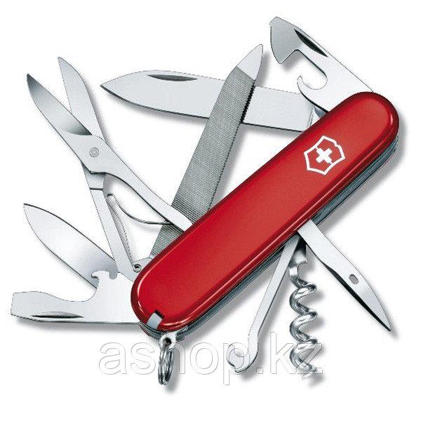 Нож складной офицерский Victorinox Mountaineer, Кол-во функций: 18 в 1, Цвет: Красный, (1.3743)