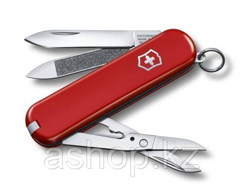 Нож складной карманный Victorinox Executive 81, Функционал: Туризм, Кол-во функций: 7 в 1, Цвет: Красный, (0.6