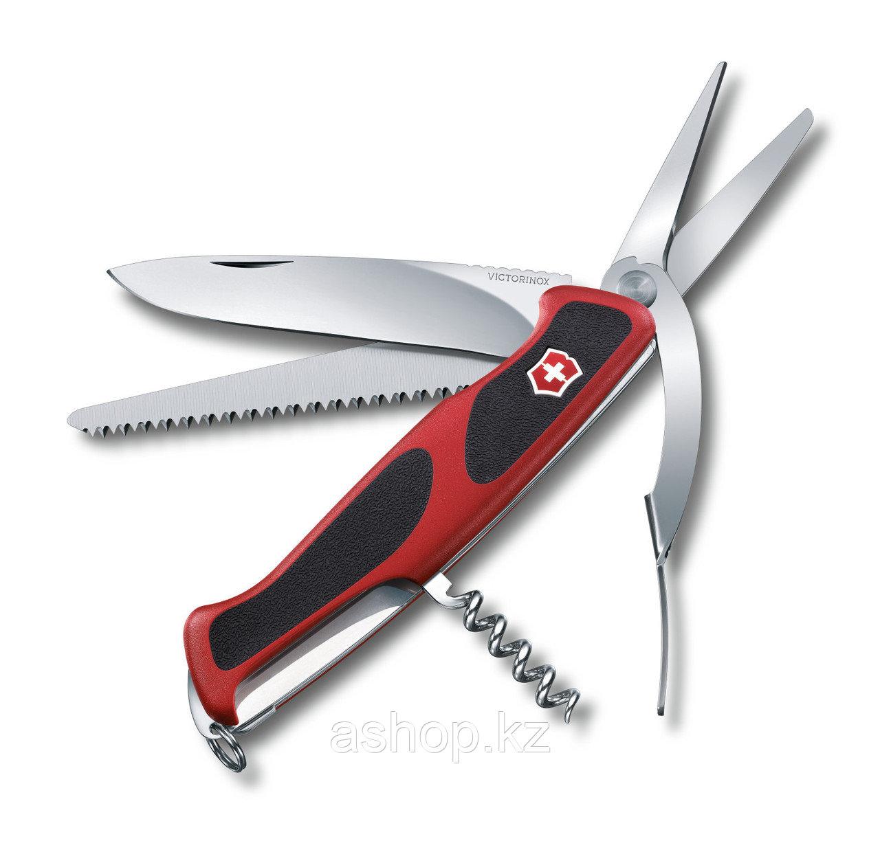 Нож складной карманный Victorinox RangerGrip 71 Gardener, Функционал: Туризм, Кол-во функций: 7 в 1, Цвет: Кра