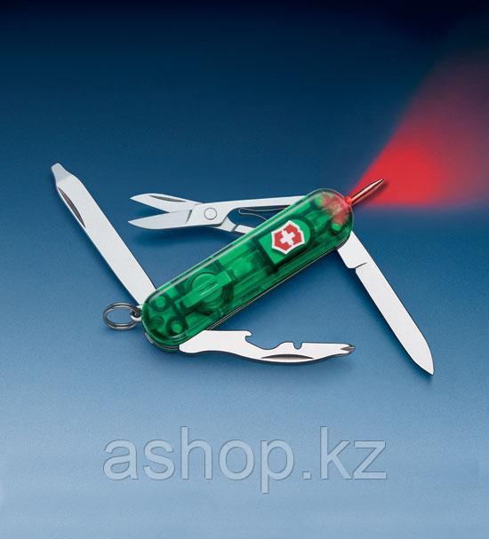 Нож складной универсальный Victorinox Swisslite Emerald, Кол-во функций: 10 в 1, Цвет: Зелёный (полупрозрачный