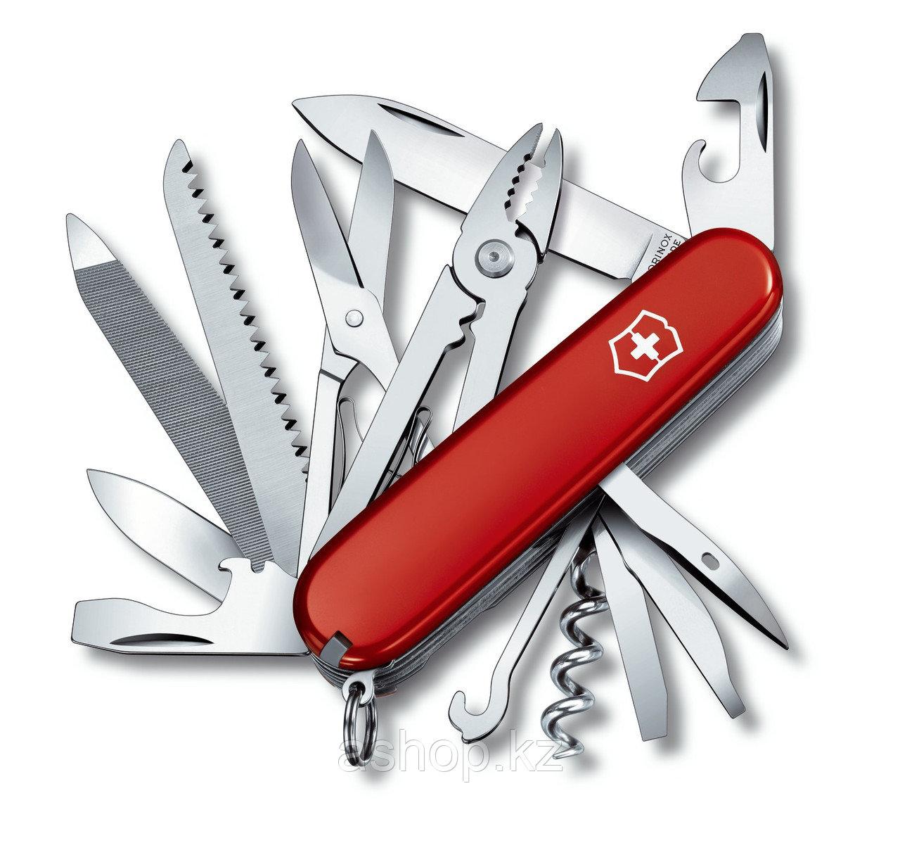 Нож складной офицерский Victorinox Handyman, Функционал: Универсальная, Кол-во функций: 24 в 1, Цвет: Красный,
