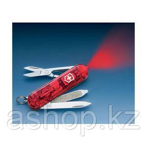 Нож складной карманный Victorinox Signature Ruby, Функционал: Туризм, Кол-во функций: 7 в 1, Цвет: Красный (пр