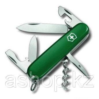 Нож складной офицерский Victorinox Spartan, Кол-во функций: 12 в 1, Цвет: Зелёный, (1.3603.4)