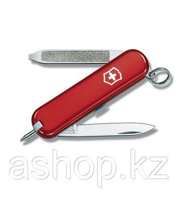 Нож складной карманный Victorinox Scribe, Функционал: Туризм, Кол-во функций: 6 в 1, Цвет: Красный, (0.6125)
