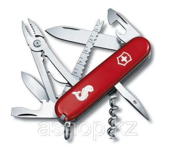 Нож складной офицерский Victorinox Angler, Функционал: Рыбацкий, Кол-во функций: 18 в 1, Цвет: Красный, (1.365