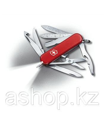 Нож складной карманный Victorinox Midnite Minichamp, Функционал: Туризм, Кол-во функций: 16 в 1, Цвет: Красный