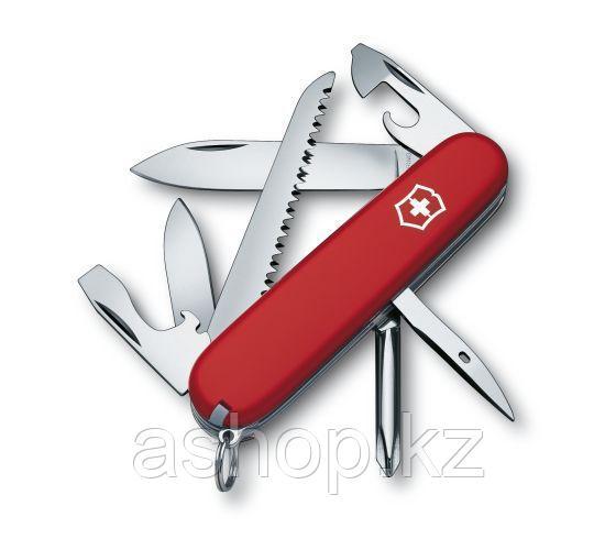 Нож складной офицерский Victorinox Hiker, Функционал: Походный, Кол-во функций: 12 в 1, Цвет: Красный, (1.4613