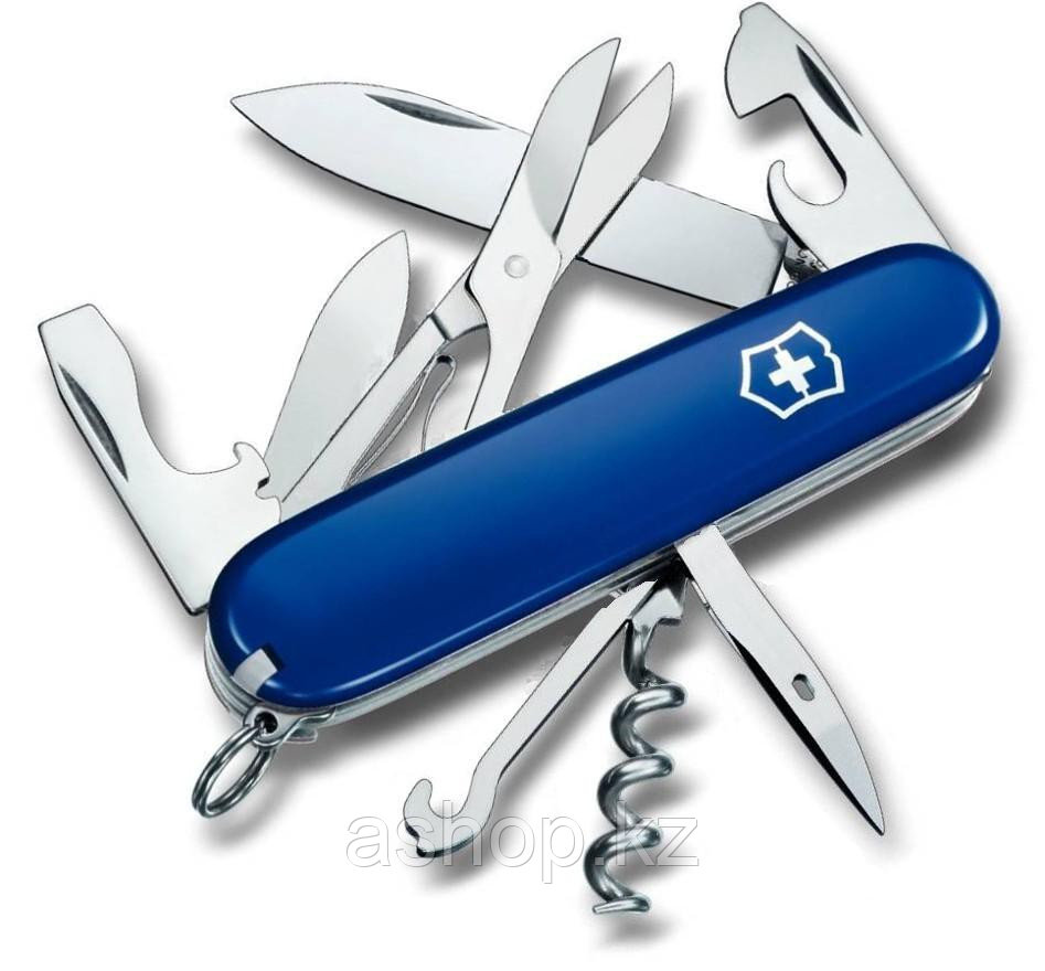Нож складной офицерский Victorinox Climber, Функционал: Альпинистский, Кол-во функций: 14 в 1, Цвет: Синий, (1
