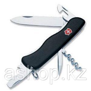 Нож складной солдатский Victorinox Nomad, Кол-во функций: 11 в 1, Цвет: Чёрный, (0.8353.3)