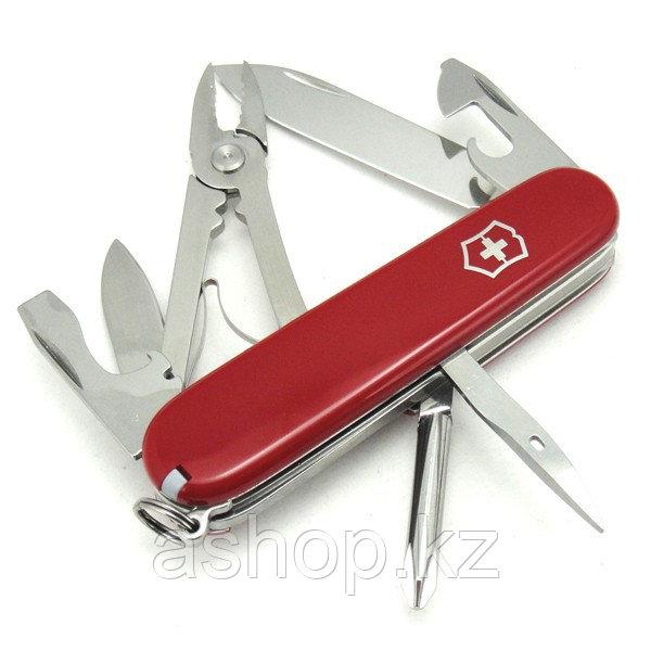 Нож складной армейский Victorinox Mechanic, Кол-во функций: 11 в 1, Цвет: Красный, (1.4623)